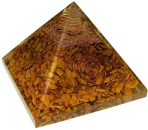 Pyramid Orgone Camel Jasper (8.5cm)