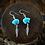 Thumbnail: Coloured Zuni Bear & Feather - Earrings