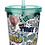 Thumbnail: Pawsome Simon's Cat Plastic 500ml Double Walled Reusable Glitter Cup with Lid an