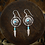 Thumbnail: Turquoise & Silver Medicine Shield & Feather - Earrings