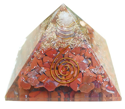 Pyramid Orgone Red Jasper (8.5cm)
