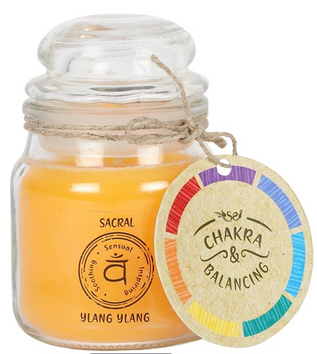 Scented Chakra Balancing 9cm Candle (Sacral)