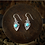 Thumbnail: Silver Eagle With Turquoise Earrings