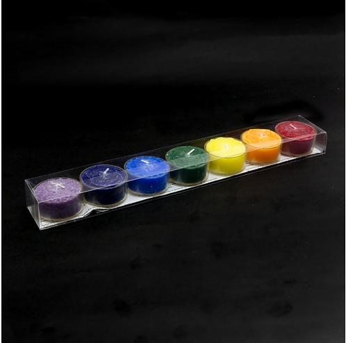 Chakra Tea Light Candles (Set Of 7)