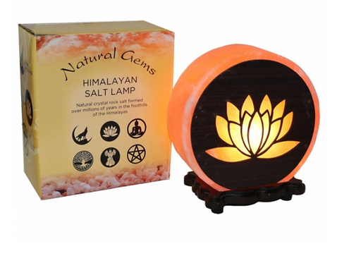 Lotus Flower Design Salt Lamp