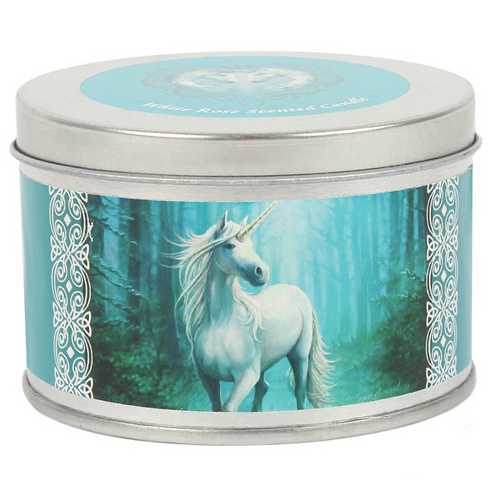 Forrest Unicorn Candle By Anne Stokes (White Rose Scented )
