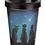 Thumbnail: Lisa Parker Wish Upon a Star Cat Reusable Screw Top Bamboo Composite Travel Mug