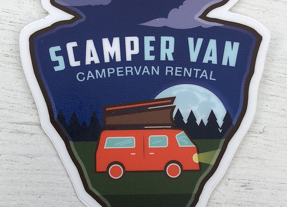 sCAMPer Van Arrowhead Sticker
