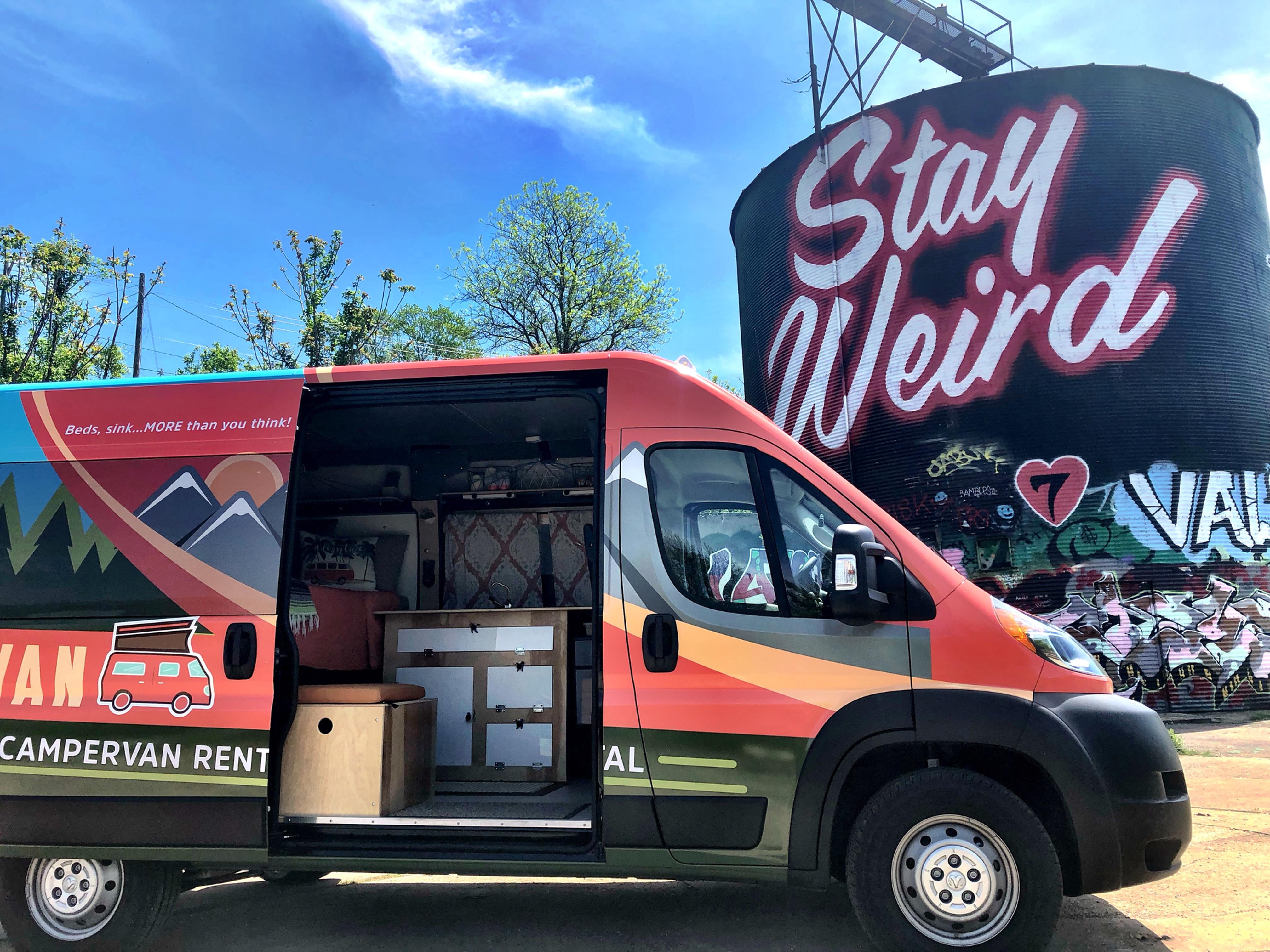 Camper Rental in Atlanta & Asheville | sCAMPer Van