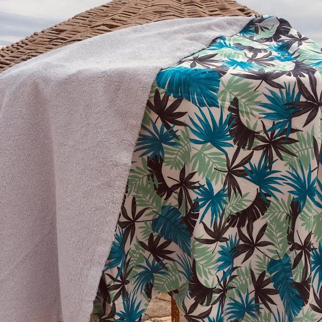 Handmade Foliage Pattern Towel
