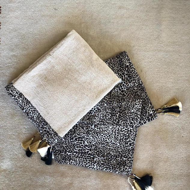 Handmade Small Leopard Pattern Towel