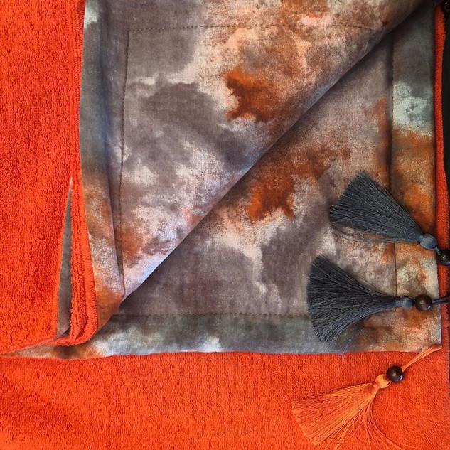 Handmade Spraying Pattern Towel