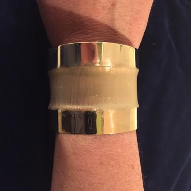Handmade Brass Wide Bracelet