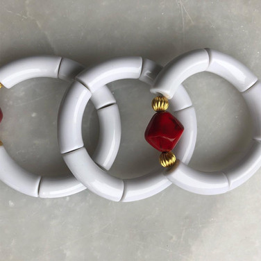 Handmade White Bracelets