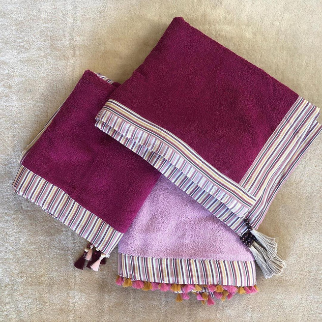 Handmade Claret Red Towel