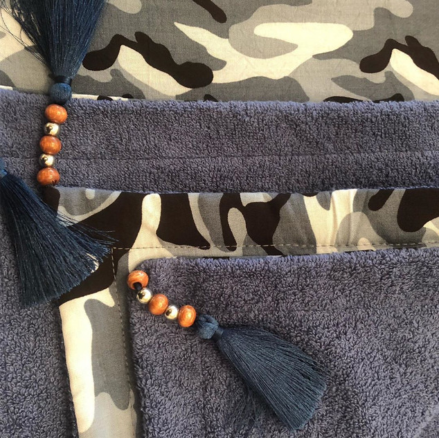 Handmade Camouflage Pattern Towel