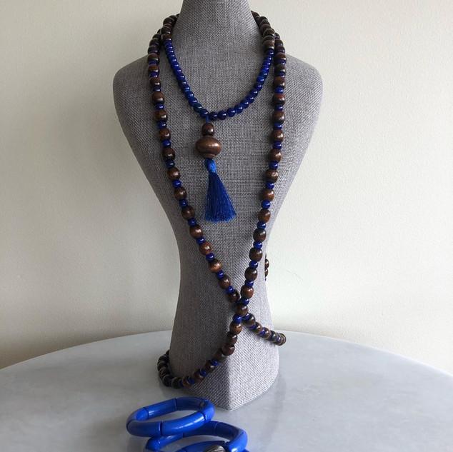 Handmade Blue  Brown Set