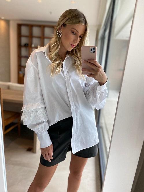 Camisa maxi off white