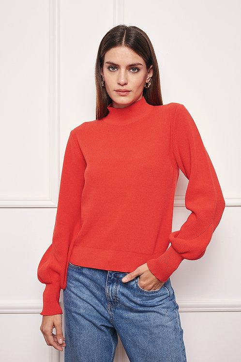 Blusa em Tricot vermelho Ambicione