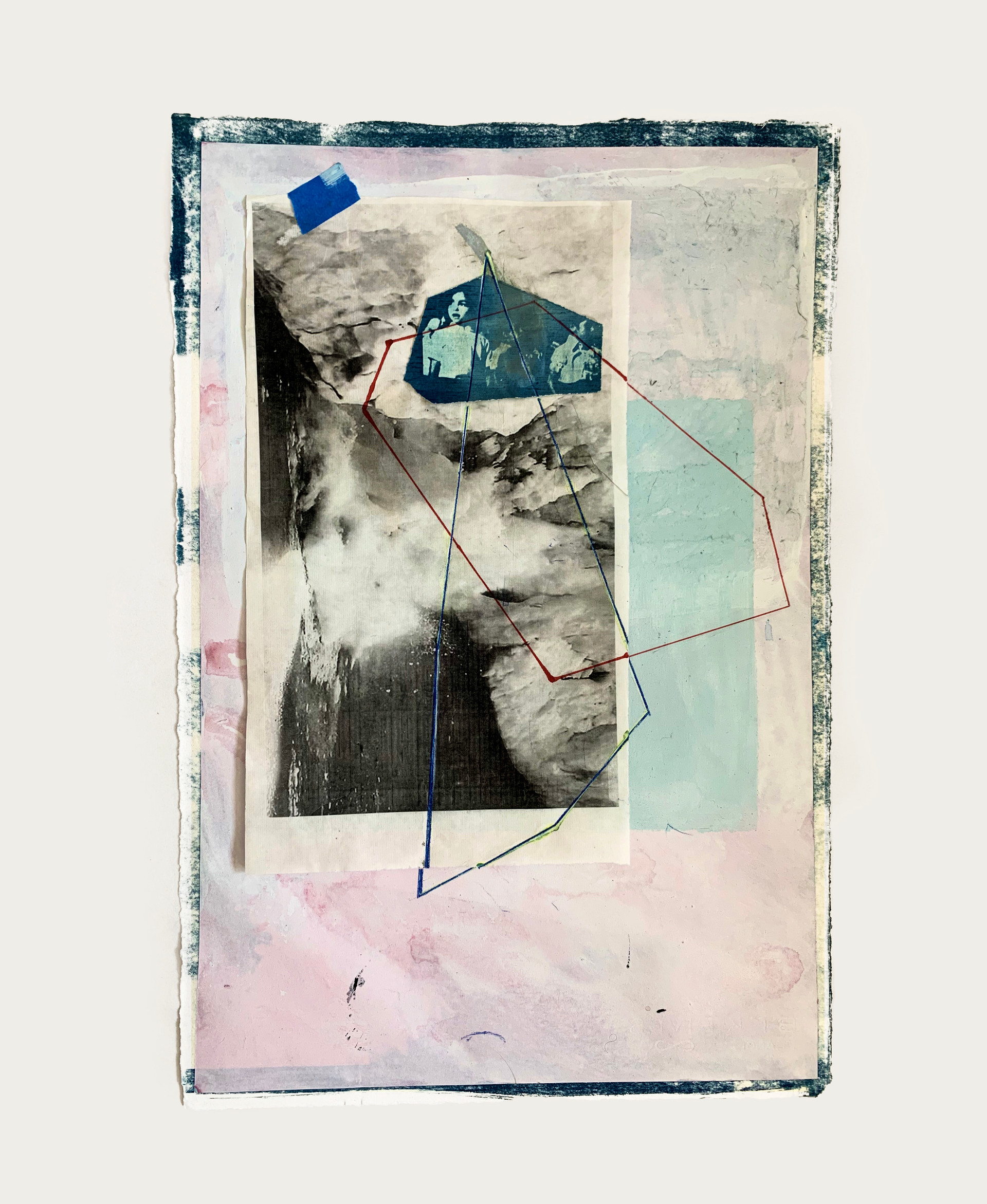 Untitled (study for hum in pink and blue