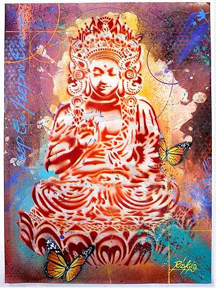 "Large Buddha's - Title ""Peaceful Warrior"