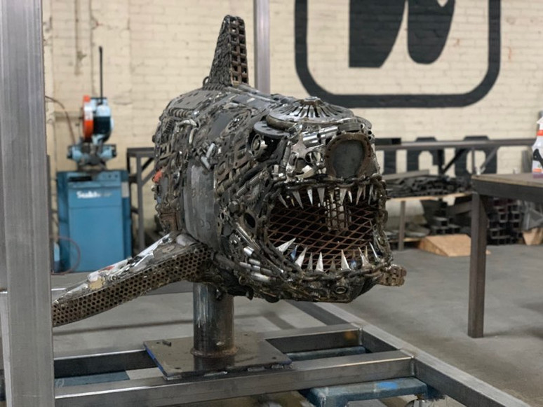 """Title """"Face Your Fears"""" Medium Shark"""