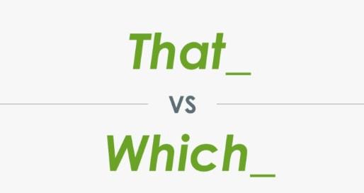 That or Which: questo è il dilemma
