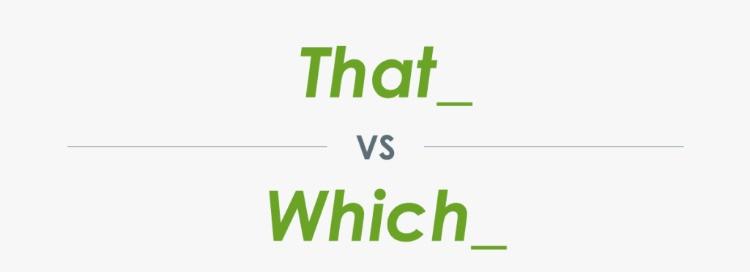 """Guida all'utilizzo di """"That"""" e """"Which"""""""