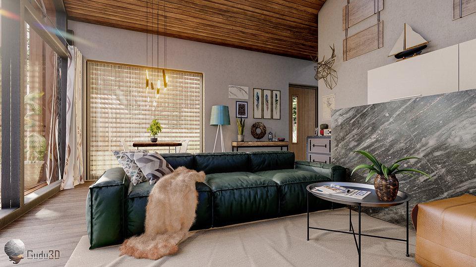 Interior Modern Hut Render
