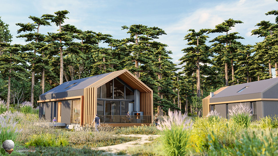 Exterior Modern Hut Render