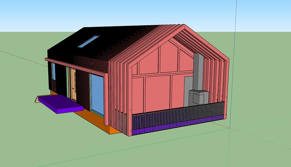 3D file. House modern hut