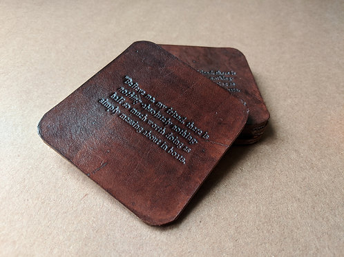 Messing About in Boats Leather Coasters