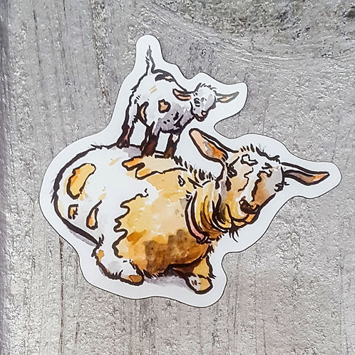 Goat & Kid Magnet