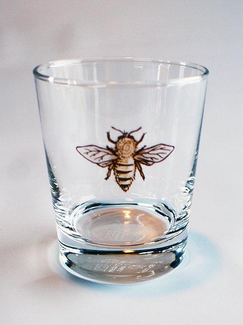 Honey Bee Whiskey Glass
