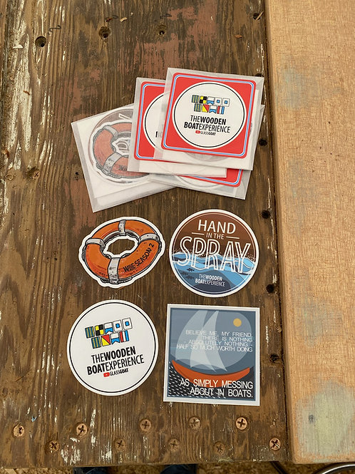 Wooden Boat Experience Sticker Pack of 4