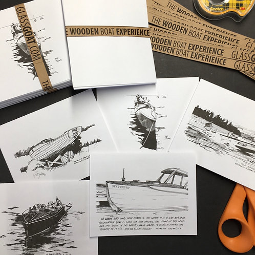 Wooden Boat Experience Note Card Set