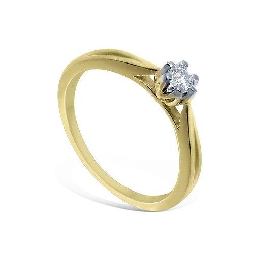 Diamantring forlovelsesring  Sitara 0,08 ct W-SI
