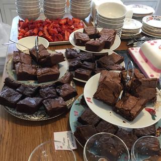 Mixed brownie dessert