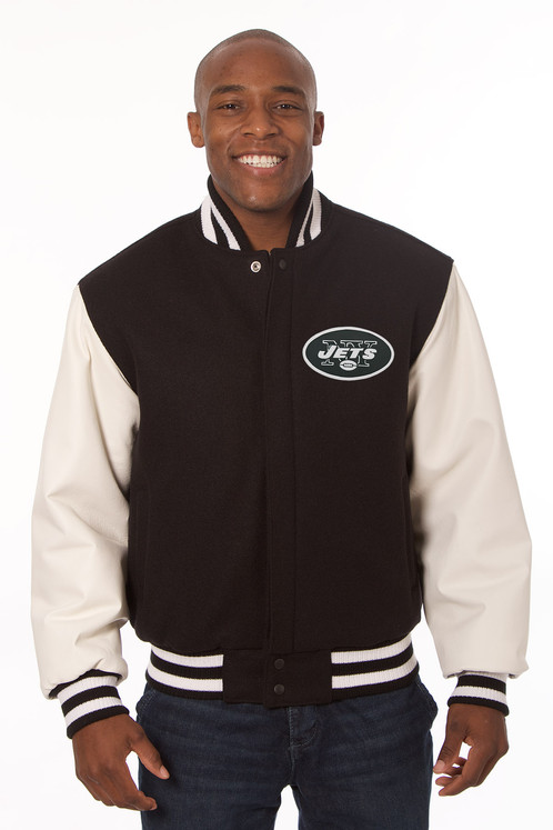 promo code a176b 46117 New York Jets Wool and Leather Varsity Jacket with Back Logo ***Made in  USA***