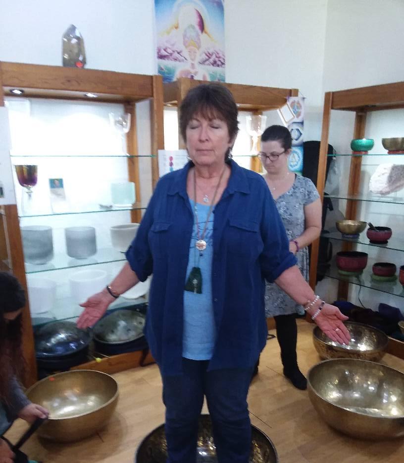 Standing in Tibetan Singing Bowl
