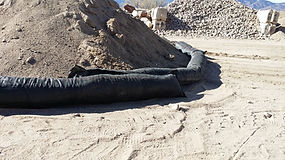 Recycled Rubber Sock, RRS, Rock Sock, BMP, Rubber Sock, Rubber Wattle, Stormwater, Denver, Area Inlet