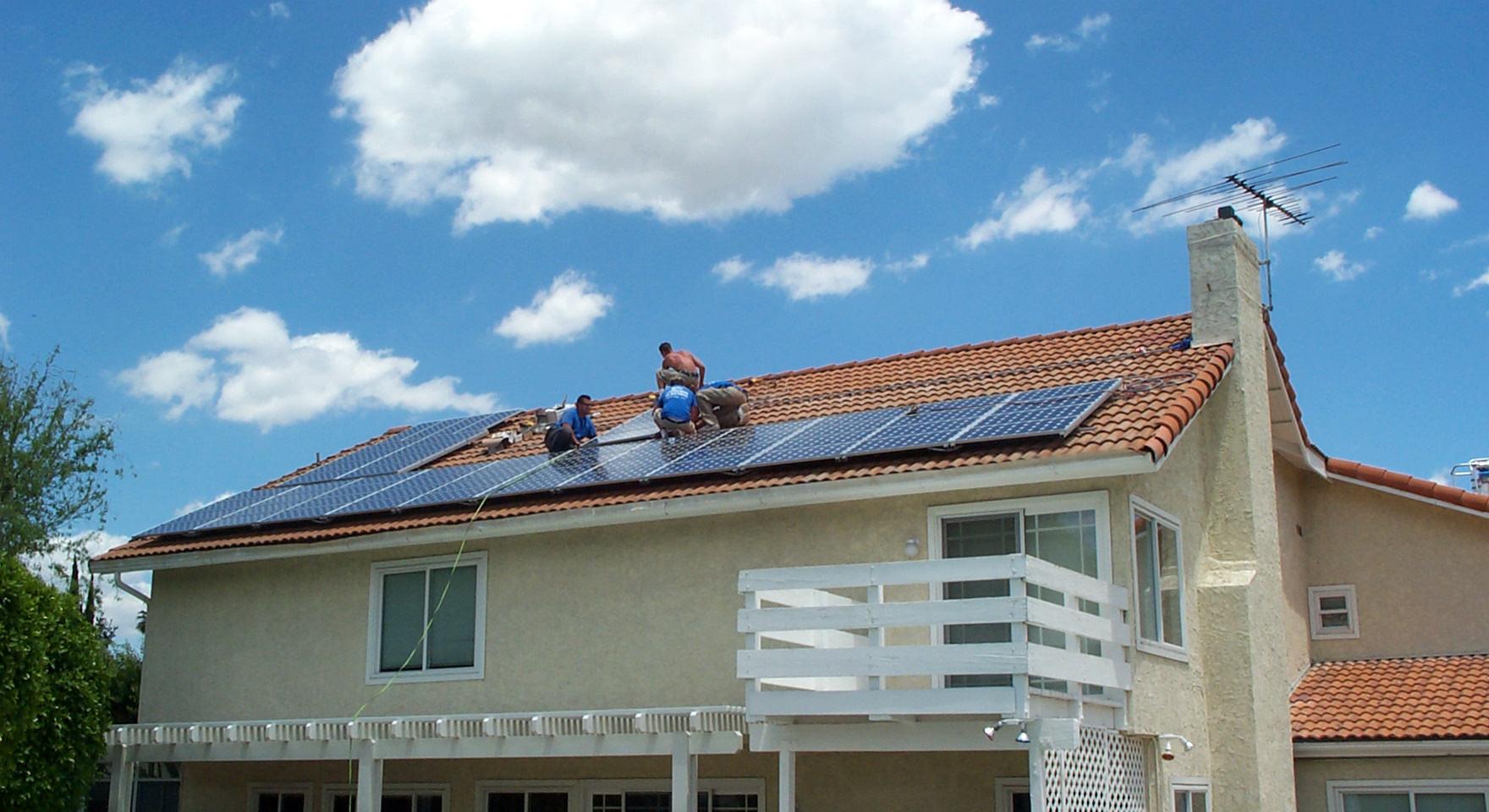 Solar Installation Against a Beautiful Sky