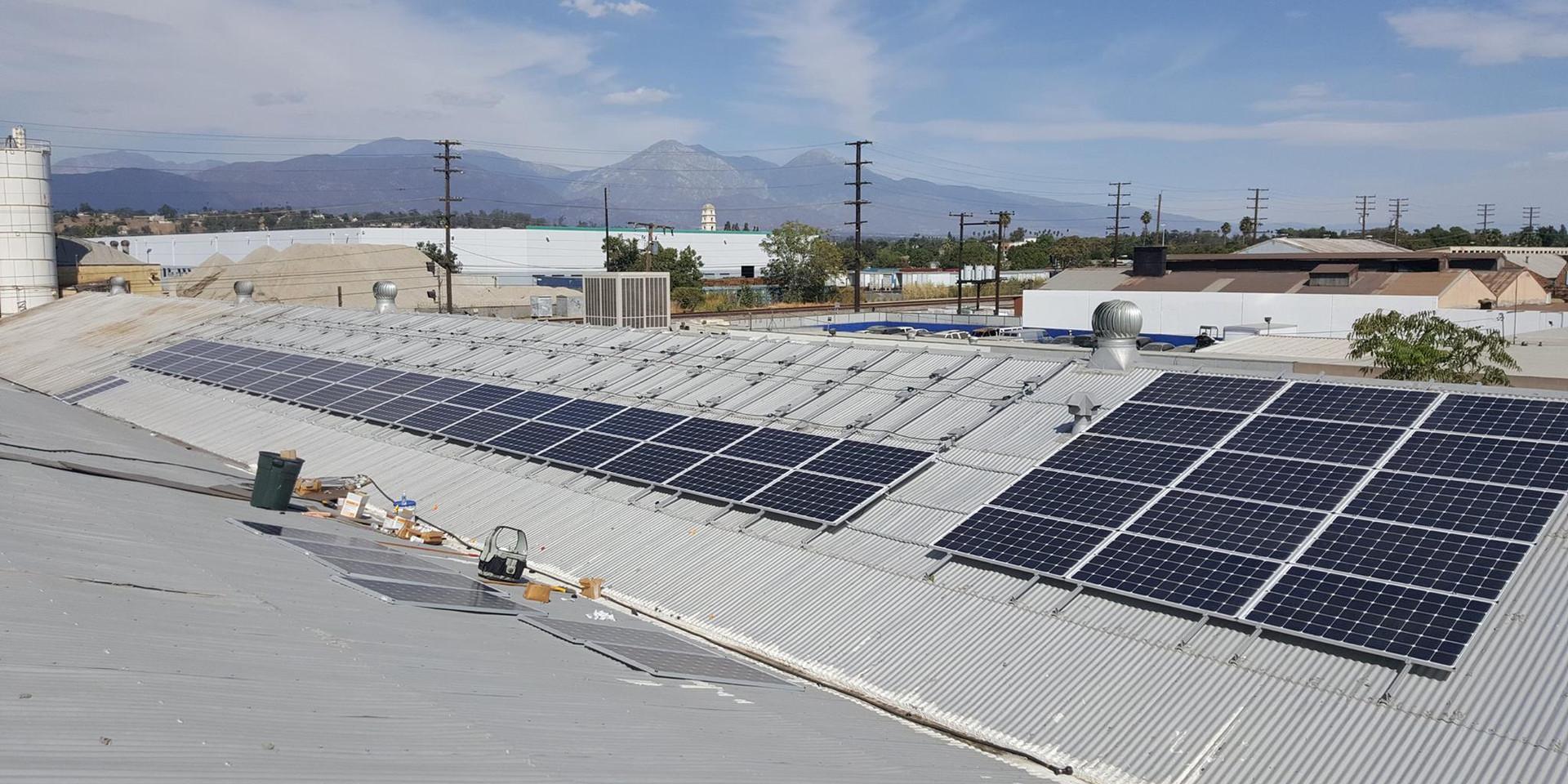 Commercial Solar Installation in Progress