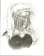 Female Drow warrior - Dec 2012.jpg