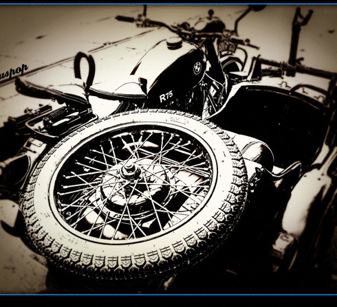 vintage BMW war bike