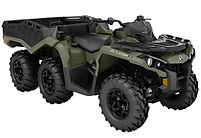 2018 Outlander 6x6 DPS 650 Squadron Green_3-4 front.jpg