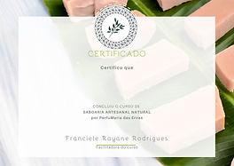 Certificado curso saboaria natural artesanal