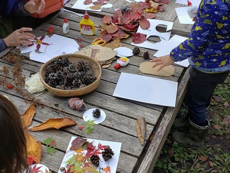 秋の開放日、そして収穫祭の準備