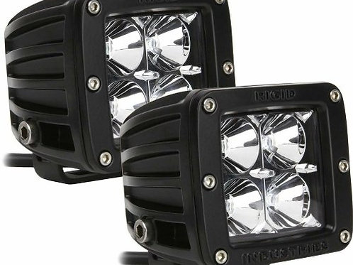 Rigid Industries Dually - Flood - Pair (Red) Lumens 4 LEDs