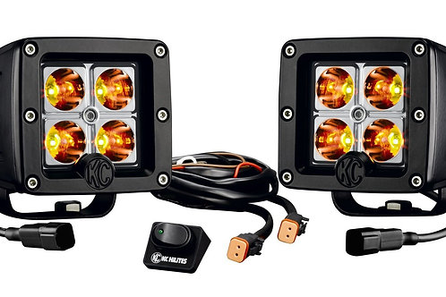 "KC HiLiTES 3"" C-SERIES C3 LED (AMBER) PAIR PACK SYSTEM"